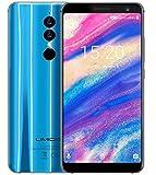 UMIDIGI A1 Pro - 5.5 Pouces (Ratio 18: 9) HD + Dual 4G Android 8.1 Smartphone, MTK6739 1.5GHz Quad Core 3Go + 16Go, Triple caméras, Reconnaissance faciale, Batterie 3150mAh - Bleu