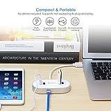 [Bestbewertet] BC Master 4-Port [Apple style] USB 3.0 Hub mit LED Licht auf Gigabit Ethernet Netzwerk Anschluss und Aufladeanschluss Super Geschwindigkeit Datenübertragung steigen auf 5Gbps für iMac, MacBook Air, MacBook Pro, Mac Mini, PC und Laptops