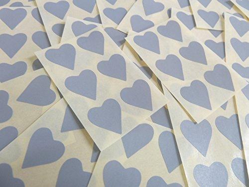 22x20mm Gris Con Forma De Corazón Etiquetas, 90 auta-Adhesivo Código De Color Adhesivos, adhesivo Corazones para Manualidades y Decoración