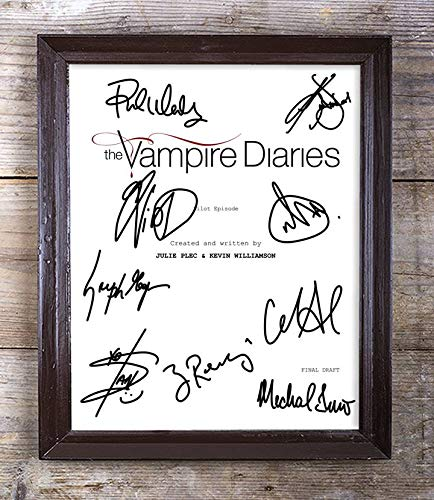 The Vampire Diaries TV Show Cast Autographed Signed 8x10 Photo Reprint #21 Special Unique Gifts Ideas for Him Her Best Friends Birthday Christmas Xmas Valentines Anniversary Fathers Mothers Day (Vampire Diaries Cast)