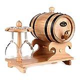 1.5L Eichenfass Rotwein Barrel Liquor Lagerung Wein Blase Geschenk Bar Hotel Sets Holzfass Dekoration(Wood color)