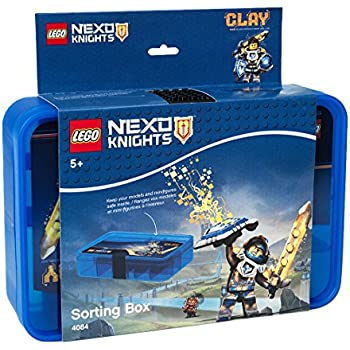 lego nexo knights sortierbox aufbewahrungsbox kasten mit. Black Bedroom Furniture Sets. Home Design Ideas
