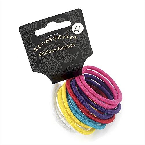 Twelve piece spectator tone elasticated hair ponio set