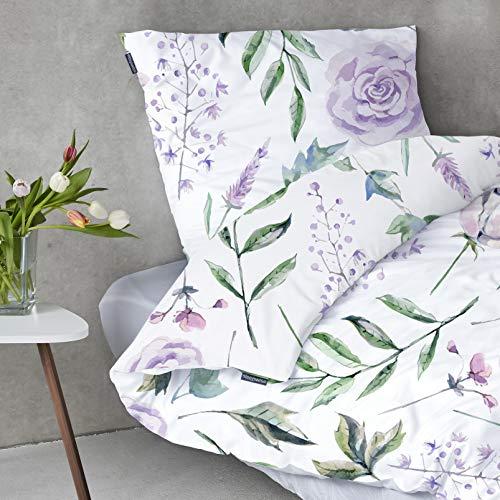 """sleepwise \""""Soft Wonder-Edition Bettwäsche (White/Garden, 135 x 200 cm)"""