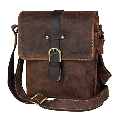 Green burry sac bandoulière vintage collection bY 1749AM - 25 marron brown