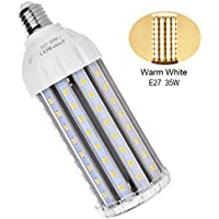 MHtech - Lampadina LED E27 35W a Risparmio Energetico (Pari a 300W) - Luce Bianca Calda