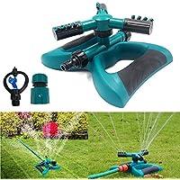 MUANI Rasen-Sprenger-Automatik-360-Garten-Anlagen Blume Wasser Bewässerungssystem Leak 3 Arm Sprayer preisvergleich bei billige-tabletten.eu