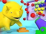 Lerne Früchte und Farben mit Dino dem Dinosaurier : Die Kaugummi-Maschine/Zementmischer