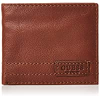 GUESS Men's Flat Billfold Wallet, Brown - 31GUE13150
