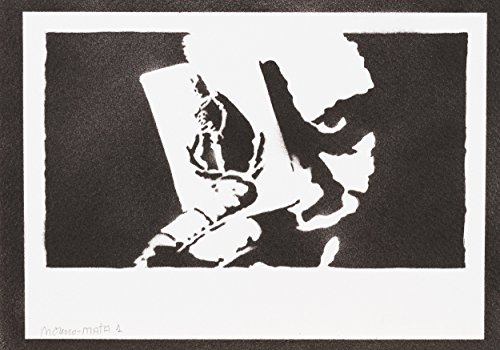 Joker Spielkarte Batman Handmade Street Art - Artwork - Poster