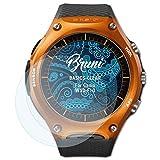 Bruni Schutzfolie für Casio WSD-F10 Folie, glasklare Displayschutzfolie (2X)