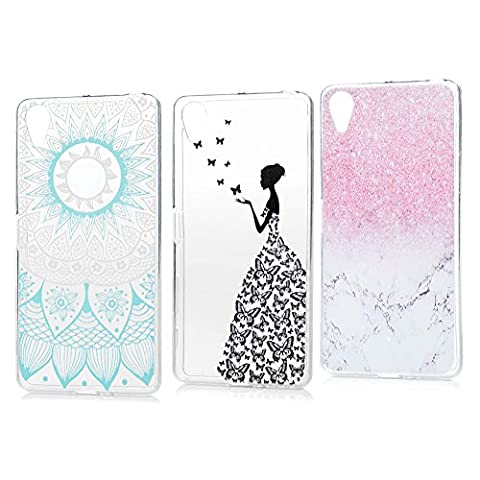 3 x Sony Xperia X Performance TPU Tasche KASOS Sony Xperia X Performance Hülle Schutzhülle Handyhülle Schale Protective Cover Silicone Taschen Paket 2