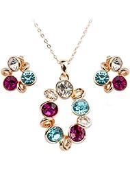 roxi Niñas Pretty Pied cristales misteriosa ciclo de collar y Earrrings