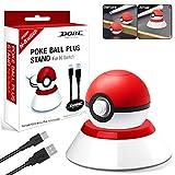 Haobuy Stand per Pokeball Plus Controller, Stand con Cavo USB Compatibile con Poke Ball Plus per Switch Lets Go Pikachu Lets Go Eevee Game Controller e Poké Ball Plus Accessorio