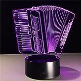 regalo fisarmonica 3D notte acrilico luce ambiente a LED da letto soggiorno mobili illuminazione della decorazione a colori da 7 colori accessori mobili per la casa