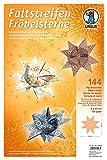 Ursus 16110000 - Faltstreifen Fröbelsterne, 2 x 60 cm, 120 g/qm, 144 Streifen