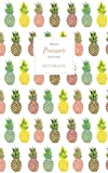 Pineapple Notebook - Ruled Pages - Premium: Fun notebook / jotter with 96 ruled / lined pages - A5 / 5x8 inches / 12.7x20.3cm / Junior Legal Pad