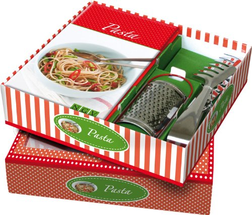 Buch-Box Pasta: Rezeptbuch + Parmesanreibe und Spaghettizange