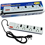 Marshal Universal Power Strip With Fuse, Individual Switches And Indicators