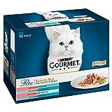 Gourmet Purina Perle de Wet pour chat, Mini filets en Sauce–Lot de 4