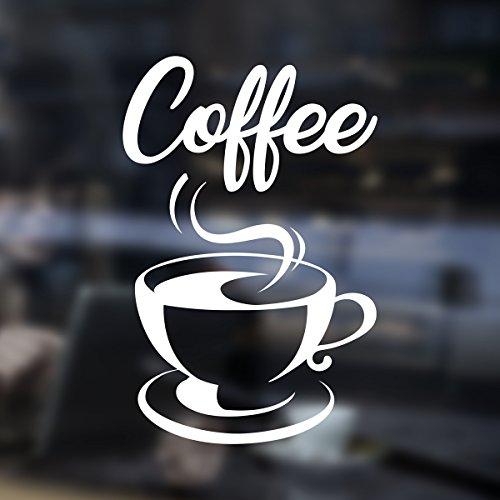 Coffee Takeaway Kaffee-Takeaway-Tasse Cafe Shop Vinyl-Aufkleber Fenster Beschriftung Wand Kunst Zeichen Dekor -