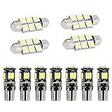 Muchkey Auto Innenbeleuchtung für A5 S5 LED Standlicht Lampe Birne Licht 11pcs Weiß
