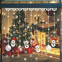 Calmare Weihnachten Wandaufkleber, 180pcs Weihnachten Fensterbilder Aufkleber Schneeflocke/Fensteraufkleber Wandaufkleber für Urlaub Party Supplies Hintergrund Dekoration Hauptdekoration