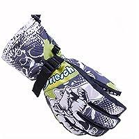 Andyshi alta qualità unisex Outdoor arrampicata ciclismo guida guanti caldi da sci guanti invernali, donna Uomo, Grey, XL(Men)