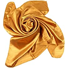Xiang Ru Femme Été Grand Foulard Carré Couleur Uni en Soie Imité Solaire 90    90CM 722acd7af6f