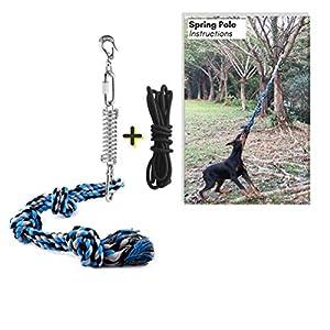 Macabolo Bâton de Printemps pour Chien, Animal Domestique, Chien à Suspendre en Plein air, Corde de Traction de la Guerre, Jouet pour Chien