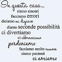 LifeUp Disegn Originale- Adesivo Murale Frase in Italiano Soggiorno Camera
