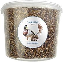 Premium 5L Tortuga seca de los pájaros salvajes Tub - High Protein Treat Feed - Apto para aves de corral, erizos, pollos, patos, peces, reptiles y pequeños mamíferos