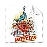 Watercolor City Russland Architektur Moskau Basilikum-Kathedrale Gläser Tuch Reinigungstuch Geschenk Handy-Display von 5x