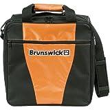 Brunswick 1-Ball Bowlingtasche für eine Bowlingkugel und Bowlingschuhe, Farbe:Orange