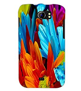 PrintDhaba Flower D-2181 Back Case Cover for MICROMAX A110 CANVAS 2 (Multi-Coloured)