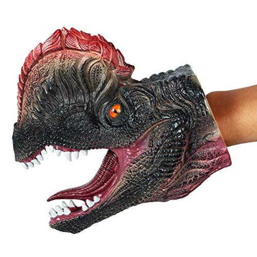 Toyvian Dinosaurier Handpuppe | Gummi Realistic Tier Spielzeug für Kinder - Dilophosaurus