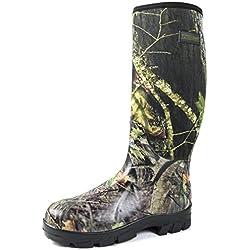 Nitehawk - Bottes de pluie en néoprène - pour la pêche/la chasse/la boue/l'agriculture - camouflage - 48