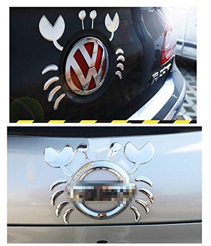 NdB 1087 - [CANCER 3D GRIGIO] 3D Sticker Adesivo Decalcomania Auto Moto Camion Roulotte - Alta Qualità - No danno vernice - Rimovibile - 10,2 x 12,1 cm