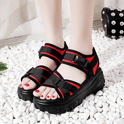 Lgk & fa estate sandali sandali da donna estate spiaggia alla moda studenti suola spiaggia scarpe da donna scarpe gules