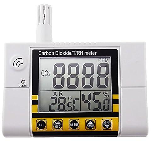 AZ Instruments dioxyde de carbone température du détecteur d'humidité de l'Air intérieur CO2 contrôle de qualité
