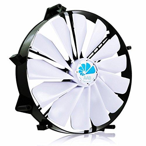 AAB Cooling Super Silent Fan 25 Leise und Efizient 218mm Groß Gehäuselüfter mit 4 Anti-Vibration-Pads - Computer-fan Silent