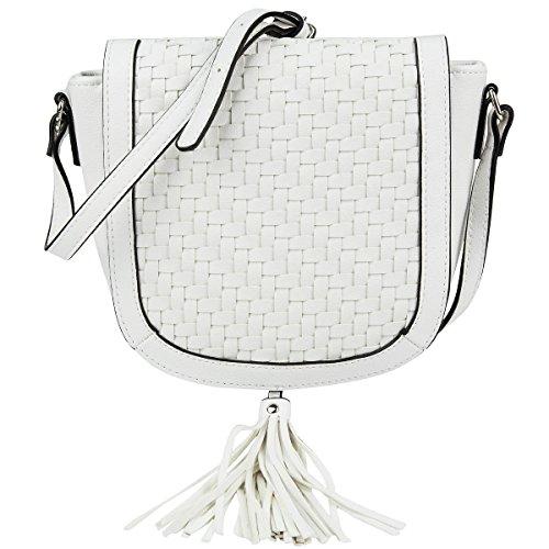 s.Oliver Umhängetasche Schultertasche Seitentasche Shoulderbag Satteltasche 39.605.94.6324 Weiß