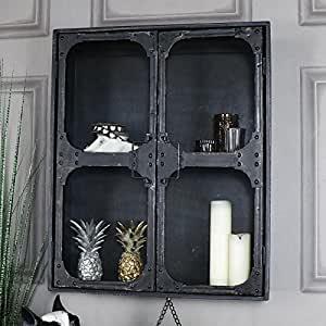 gro e retro industrie stil metall h ngeschrank k che haushalt. Black Bedroom Furniture Sets. Home Design Ideas
