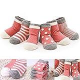 NK store 4 PC-Baby ohne Knochen aus 100% Baumwolle Socken, Unisex, M