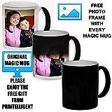 #6: Printelligent valentine gift for couples coffee mug. Color Changing Magic Photo Mug,Multicolor