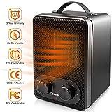 OKELAY 1800W/900W Electric Fan Heater - Portable Ceramic Space Heaters with 2 Heat