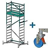 Krause ClimTec Alu Arbeitsgerüst Arbeitshöhe 5,00 m + 125 mm Rollen
