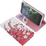 foto-kontor Tasche für Acer Liquid Z6 Book Style Lila Blüte Schutz Hülle Buch