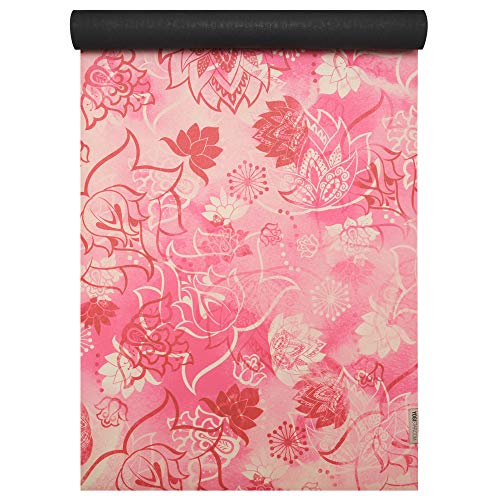 Yogistar Yogamatte travel Art Collection Lotus Rose-red