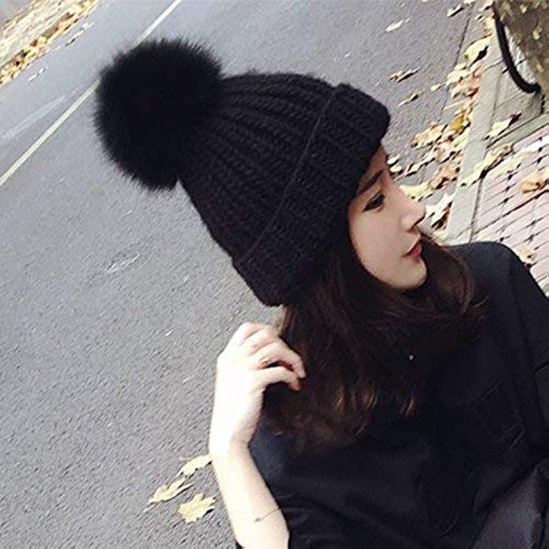 Knitted Hat Home Home Home Cappellino per Maglia da Donna Autunno e Inverno, Bianco Parent ca9074